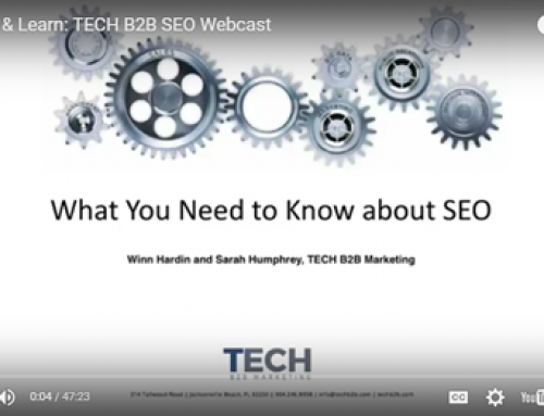 Watch & Learn: TECH B2B SEO Webcast