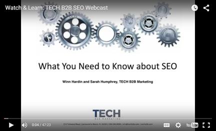 Tech B2B SEO Webinar